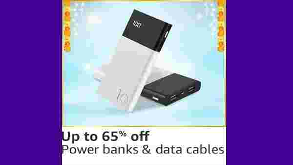 Up to 65% Off On Powerbanks, Data Cables & Pen Drives