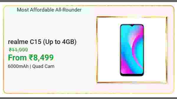 29% Off On Realme C15