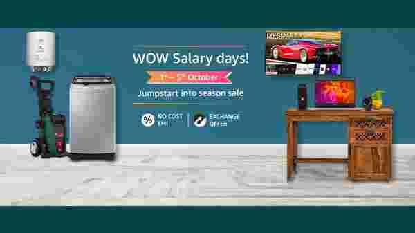 Amazon Wow Salary Days: Offers On Electronics Days Sale