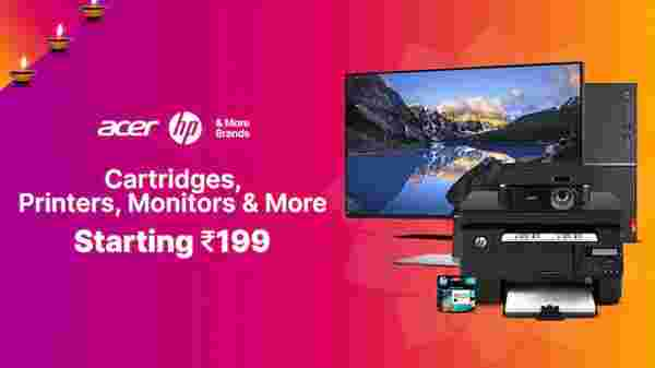 Cartridges, Printers, Monitors, And More Starting From Rs. 199