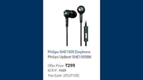 Earphones, Headphones Starting From Rs. 299