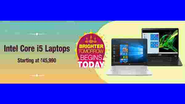 Intel Core i5 Laptop Starting From Rs. 45,990
