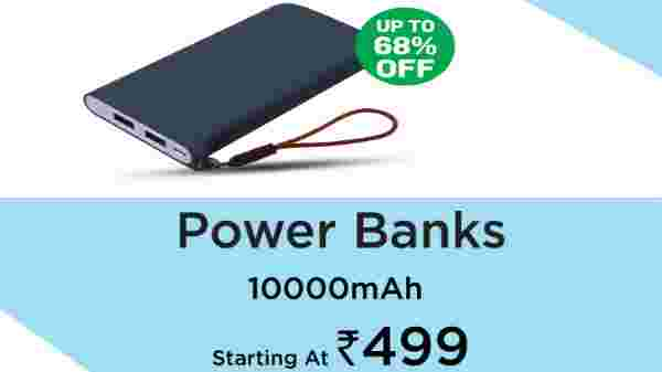 Power Banks starting From Rs. 499