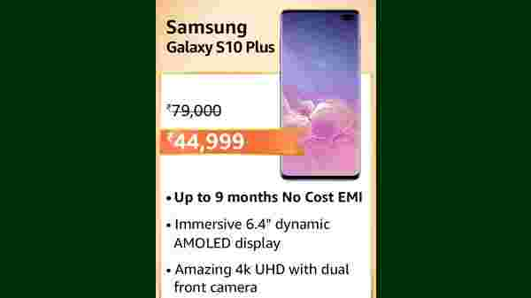 Samsung Galaxy S10 Plus (MRP: Rs.79,000 , After Discount Price Rs.44,999 )