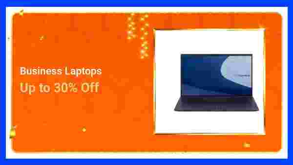 Up To 30% Off On Business Laptops