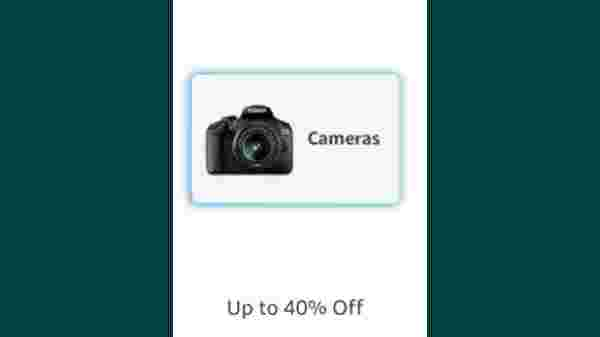 Up to 40% Off On Cameras