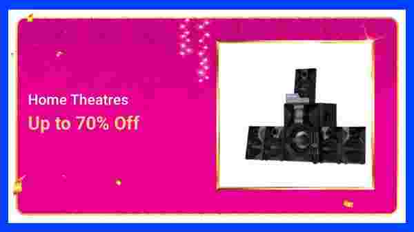Up to 70% Off On Home Theatre