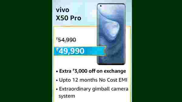 Vivo X50 Pro (MRP: Rs. 54,990, After Discount Price Rs.49,990 )