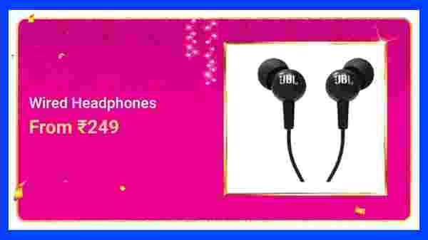 Wired Headphones From Rs. 249