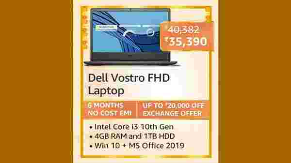 10% Off On Dell Vostro 3401 14inch FHD AG Display Laptop