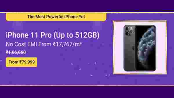 Apple iPhone 11 Pro (MRP: Rs.1,06,006 ,After Discount Price Rs. 79,999 )