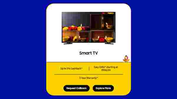 Buy Smart HD TV And Get A 5% Cashback