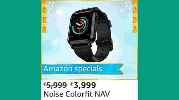 Noise ColorFit NAV Smart Watch (MRP: Rs. 5,999, After Discount Price Rs.3,999 )