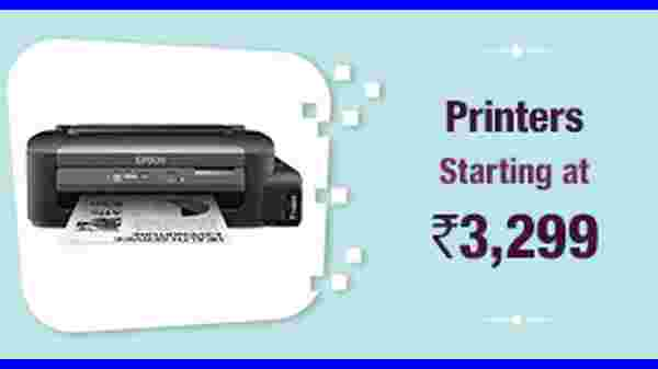 Printers Starting From Rs. 3,299