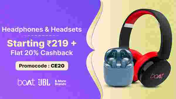Up To 20% Cash Back Off On Headphones And Speakers