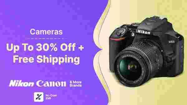 Up To 30% Off On Cameras
