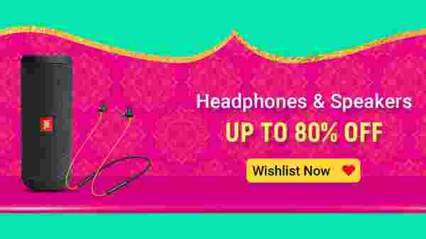 Up To 80% Off On Headphones And Speakers