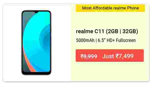16% Off On Realme C11