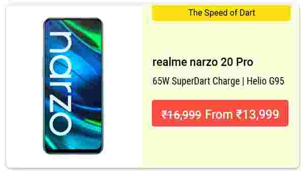 17% Off On Narzo 20 Pro