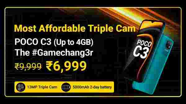 Poco C3 (MRP: Rs. 9,999 , After Discount Price Rs. 6,999)