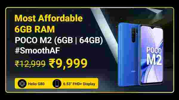 Poco M2 (MRP: Rs. 12,999 , After Discount Price Rs. 9,999)