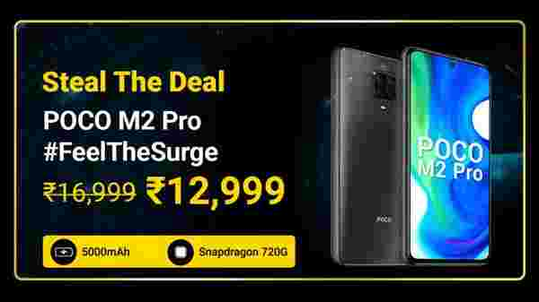 Poco M2 Pro (MRP: Rs. 16,999 , After Discount Price Rs. 12,999)