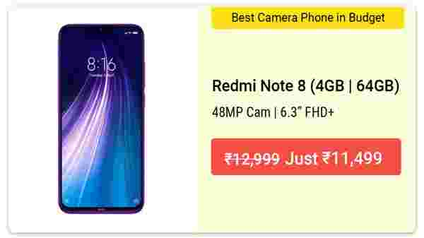 11% Off On Redmi Note 8