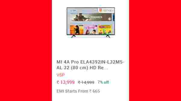 17% Off On MI 4A Pro ELA4392IN-L32M5-AL 32 (80 cm) HD Ready Smart Android LED TV
