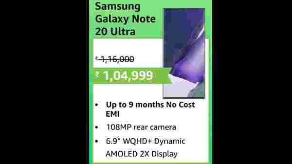 9% Off On Samsung Galaxy Note 20 Ultra 5G