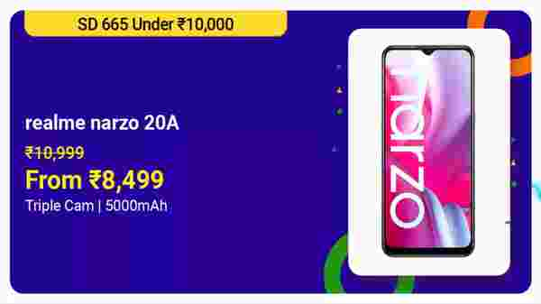 Realme Narzo 20A (MRP: Rs. 16,999, After Discount Price: Rs. 13,999)