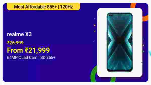 Realme X3 (MRP: Rs. 26,999, After Discount Price: Rs. 21,999)