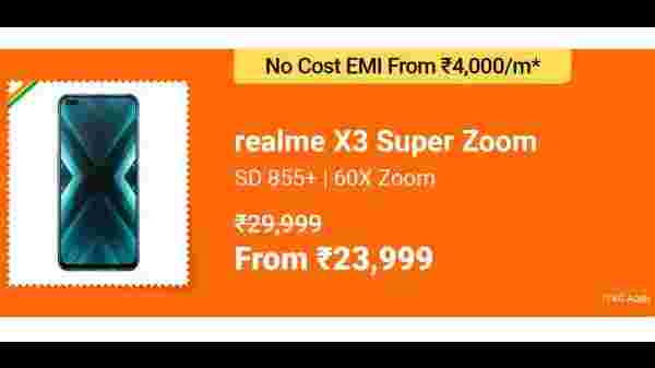 Realme X30 Superzoom (MRP: Rs. 29,999, After Discount Price: Rs. 23,999)