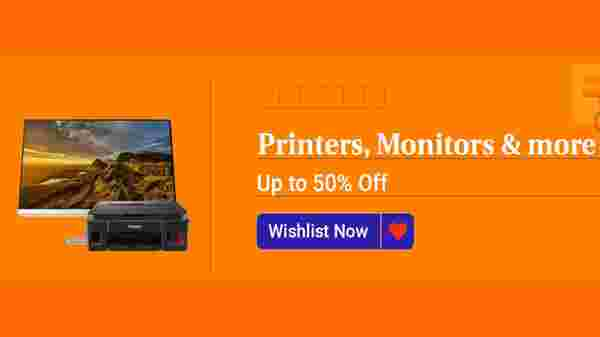 Up To 50% Off On Printers, Monitors, And More
