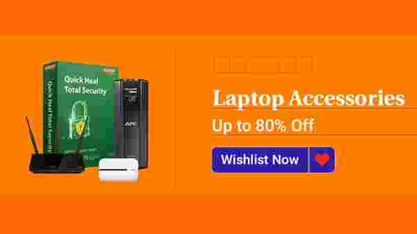Up To 80% Off On Laptop Accessories