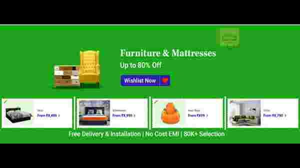 Up To 50% Off On Furniture And Mattress