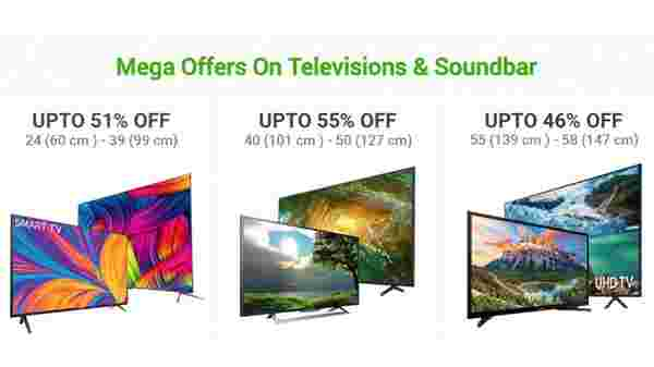 Up To 50% Off On Mega Offers On Televisions & Soundbar