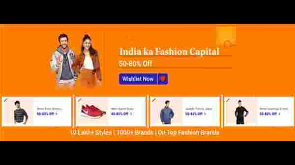 Up To 50% To 60% Off On Fashion Products