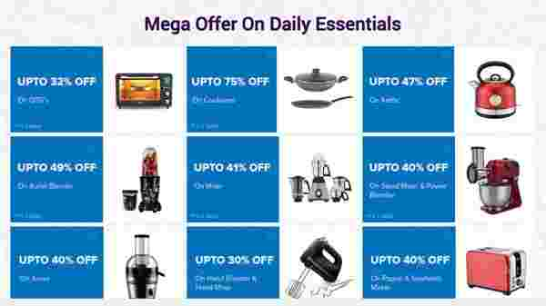 Up To 60% Off On Mega Offer On Daily Essentials