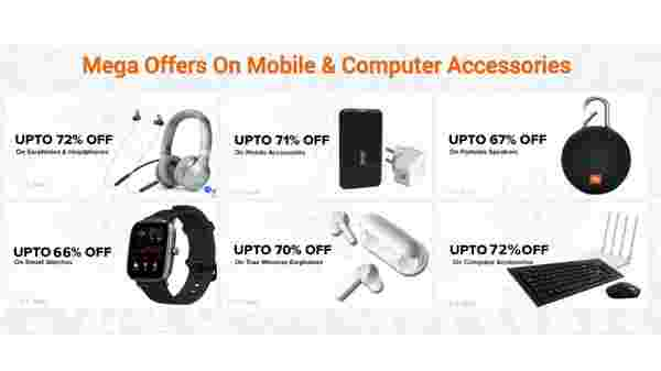 Up To 72% Off On Mega Offers On Mobile & Computer Accessories