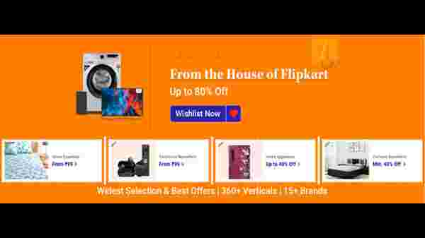 Up To 80% Off On Flipkart Brand Products