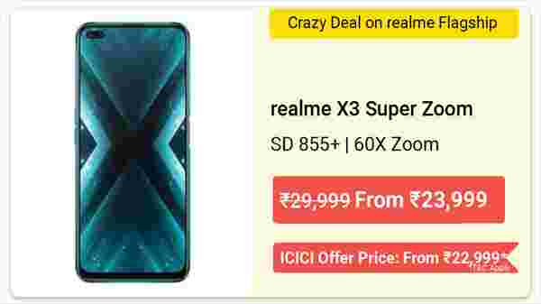 17% Off On Realme X3 Superzoom