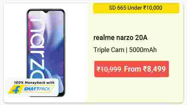 22% Off On Narzo 20A
