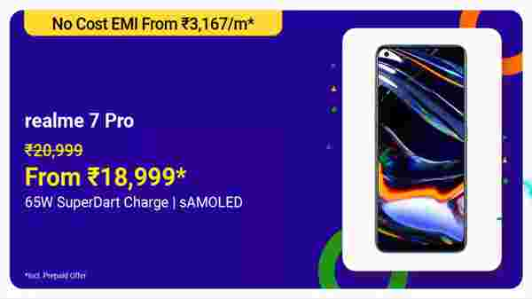 Realme 7 Pro (MRP: Rs. 20,999, After Discount Price: Rs. 18,999)