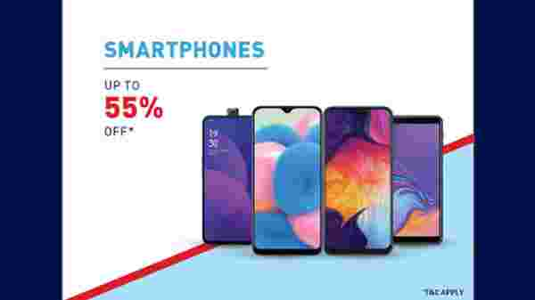 Up To 55% Off On Smartphones