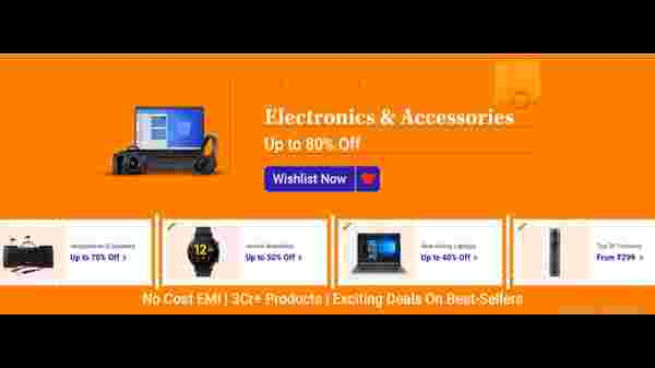 Up To 80% Off On Electronics And Accessories