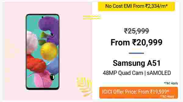 19% Off On Samsung A51