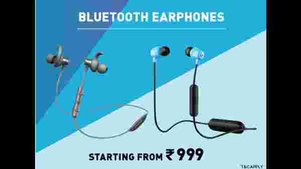 Bluetooth Earphones Starting From Rs. 999