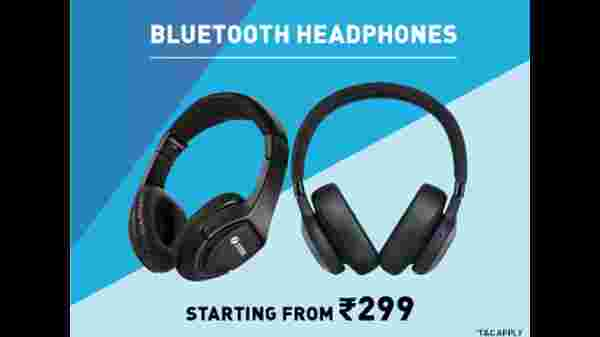 Bluetooth Headphones Starting From Rs. 299