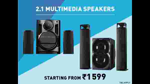 Multimedia Speakers Starting From Rs. 1,599