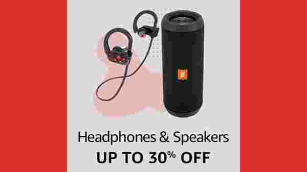 Up To 30% Off On Headphones And Speakers